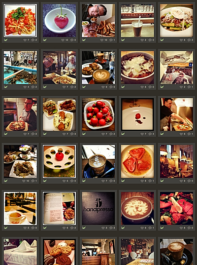 Instagram photos of food